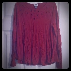 Gently worn maroon long sleeve top